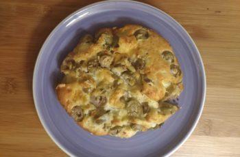 Pão para aperitivo ( Azeitonas & queijo)