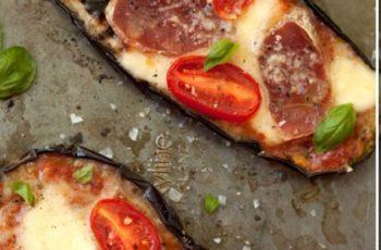 Beringela tipo pizza