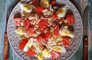 Salada com atum